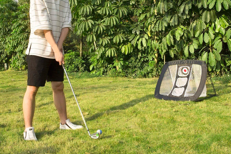 Image of £27.99 instead of £59.99 for a nylon golfing practice net from EC Life Style! - save 53%