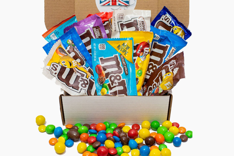 Image of £9.99 for an M&Ms exclusive eight pack hamper box from GB Gifts