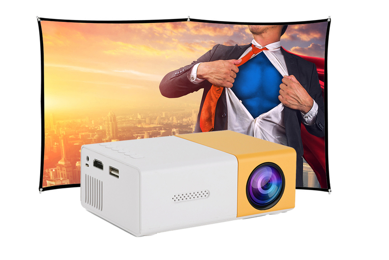 "Image of £29.99 instead of £43.13 for a portable LED projector or £40.99 for a projector and an 84"" screen - save up to 30%"