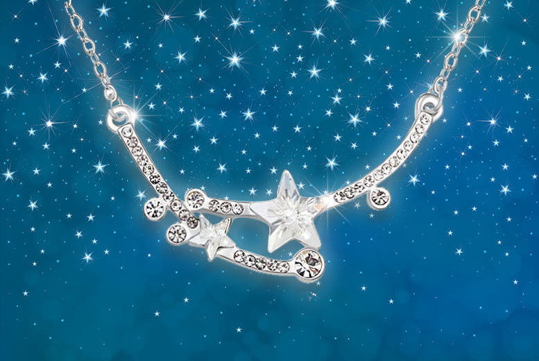 Image of £7 instead of £58 for a shooting star necklace - choose from two colours from Evoked Design - save 88%