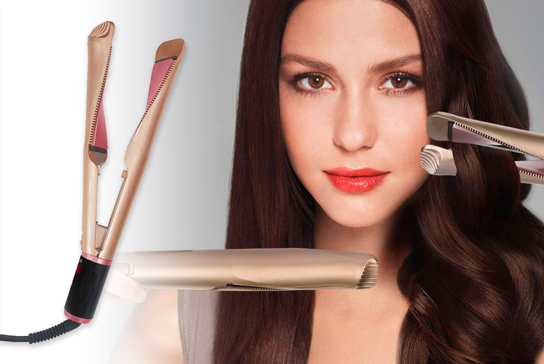 Image of £16.99 for a pair of 2-in-1 ceramic curling straighteners!