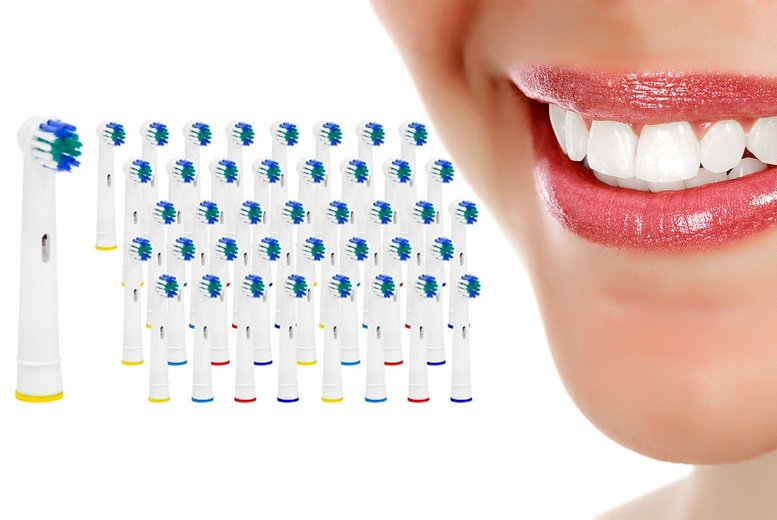 ?7.99 instead of ?49.99 for a pack of 40 Oral-B electric toothbrush heads from Vivo Mounts - Save 84%