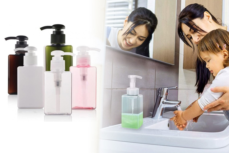 ?8 instead of ?29.99 for a travel-size foaming soap dispenser bottle set from - save 73%