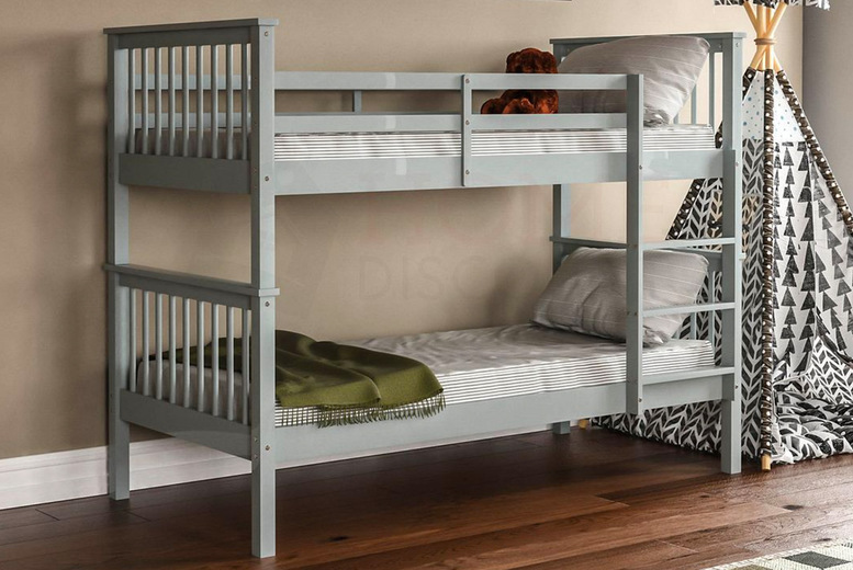 Image of From £179.99 instead of £317 for a Vida Milan bunk bed, choose from three colours from Home Discount – save up to 44%
