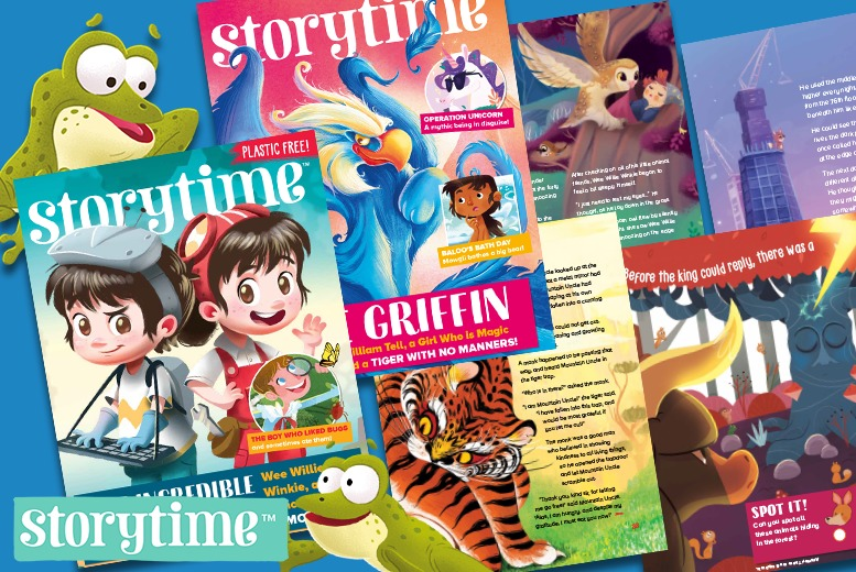 Image of £10.99 instead of £24.98 for a story bundle from Storytime Magazine including a six-month subscription with one issue per month, one special edition festive issue and a letter from Santa - save 56%