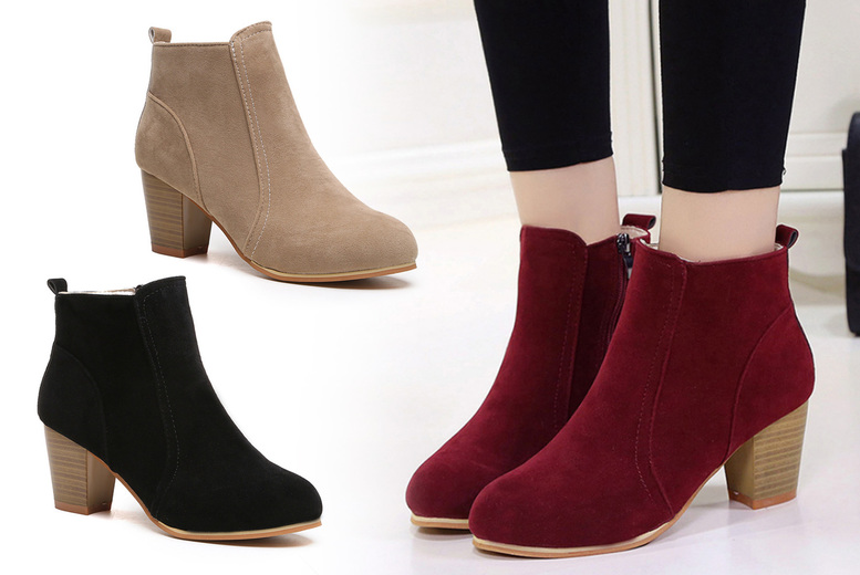 Image of £14.99 for a pair of ladies' high heeled boots in UK sizes 3-8 from Flashing Pineapple