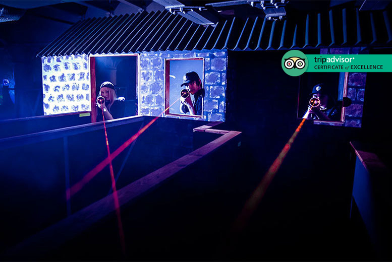 Image of £7.95 for two games of laser tag for two people at Laser Quest. £11.90 for three people, or £15.80 for four people – choose from five locations and save up to 64%