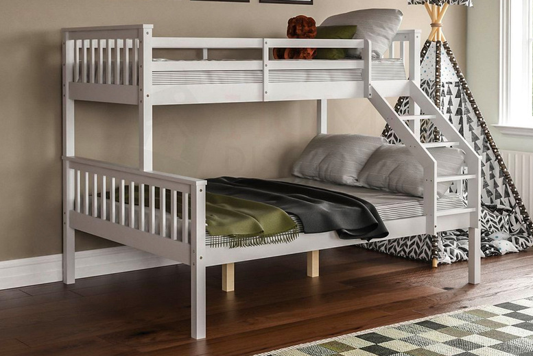 Image of From £219 for a triple sleeper bunk bed from Home Discount - choose from 3 colours and save up to 46%