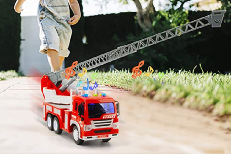 Image of £14.99 instead of £42.99 for a kids' magic fire truck toy from CN Direct Biz - save 65%