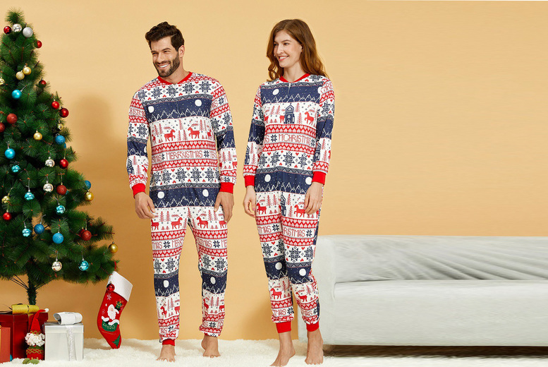 Image of £11.99 instead of £49.99 for a unisex Christmas onesie from Online Trendz - save 76%