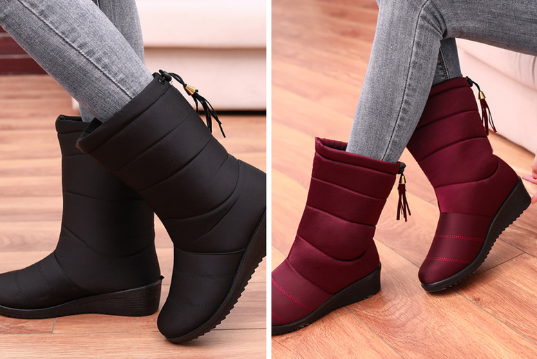 Image of £13.99 instead of £44.99 for women's waterproof snow boots from Huundo-P - save 69%
