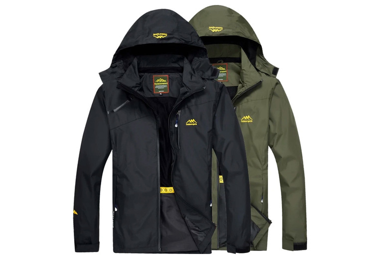 Image of £19.99 instead of £79.99 for a men's outdoor hiking jacket from EC Life-Style - save 75%