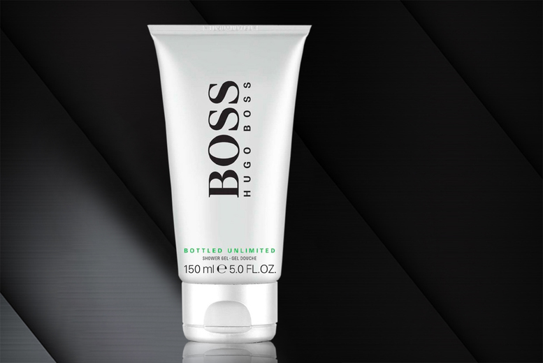 Image of £6.99 instead of £24.99 for a 150ml Hugo Boss Bottled Unlimited shower gel from Demand Tic - save 72%