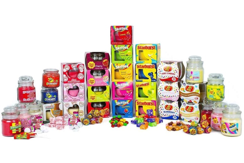 Image of £9.99 for a set of eight assorted candy scented candles from GB Gifts