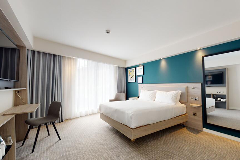 Image of A Manchester stay at Hampton By Hilton Manchester Northern Quarter for two people with one bottle of wine, breakfast, 1pm early check in and 2pm late checkout. £49 for one night, £91 for two nights, or £131 for three nights - save up 73%