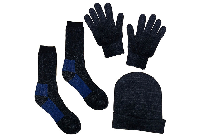Image of £4.99 for a three piece winter warmer set from Eurotrade