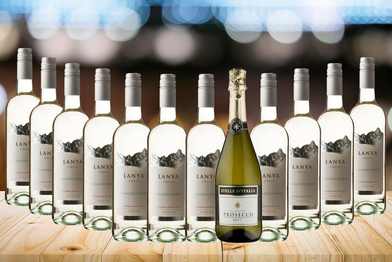 Image of £29 instead of £49.70 for a six bottle case of Chardonnay and prosecco or £58.99 for a 12 bottle case from The Great Wine Co.! - Save 47%