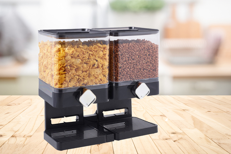Image of £12.99 instead of £29.99 for a double cereal dispenser from Direct2Public Ltd - save 57%
