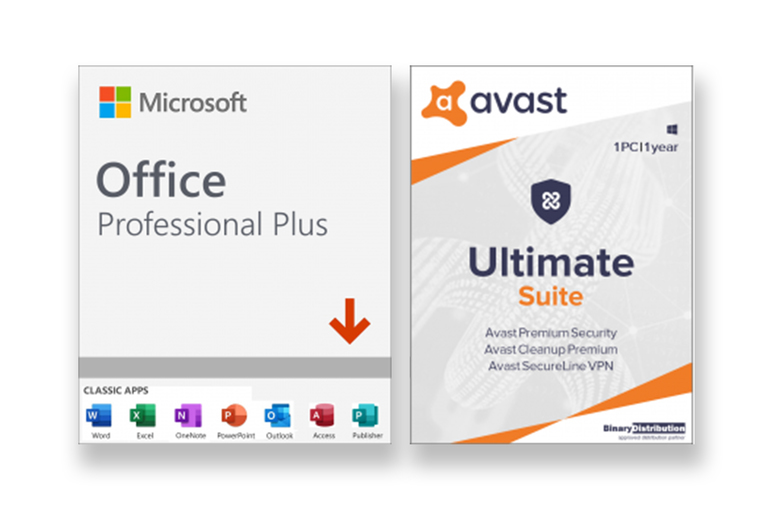 Image of £49.99 instead of £419.99 for Microsoft Office Pro Plus, £54.99 for Microsoft Office Pro Plus with one year of Avast Ultimate Suite for one PC from Download Buyer - save up to 80%