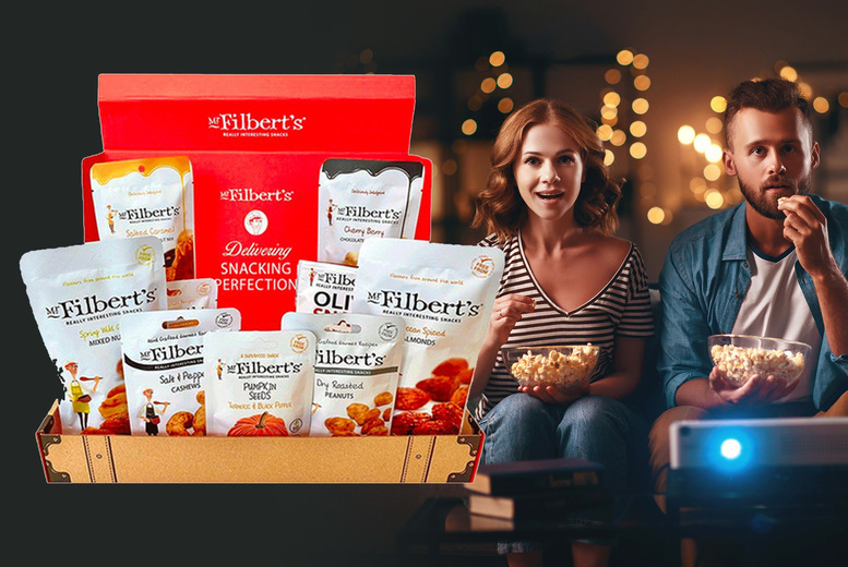 Image of From £13 for a snack selection box from Mr Filbert's - pick from their moreish Movie Night or Work From Home ultimate selection boxes and save up to 35%