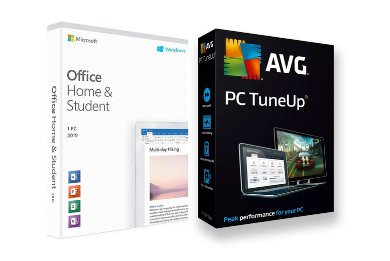 Image of £28.95 for one year of Microsoft Office Home & Student 2019 on one PC, £31.99 for one year of Microsoft Office Home & Student 2019 and AVG PC TuneUp for one PC from Download Buyer - save up to 76%