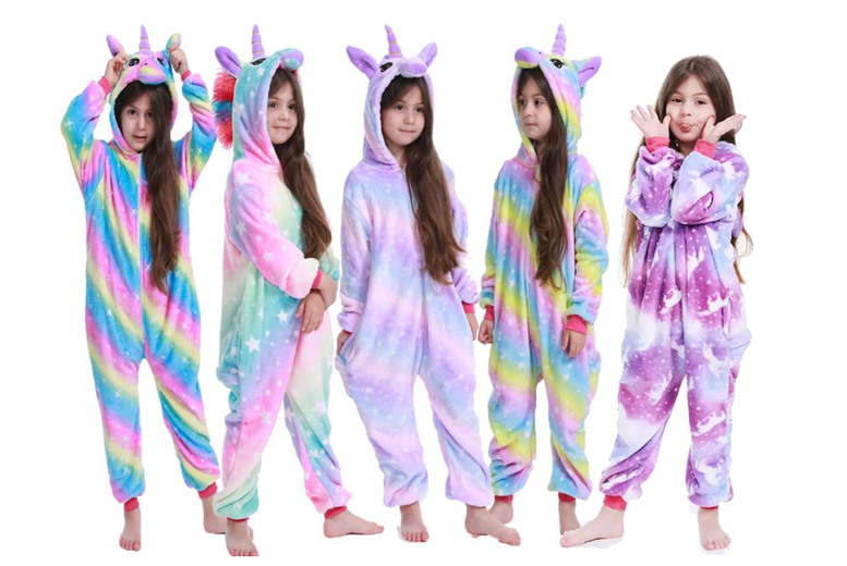 Image of £11.99 instead of £59.99 for a children's colourful unicorn onesie from Topgoodchain - save 80%