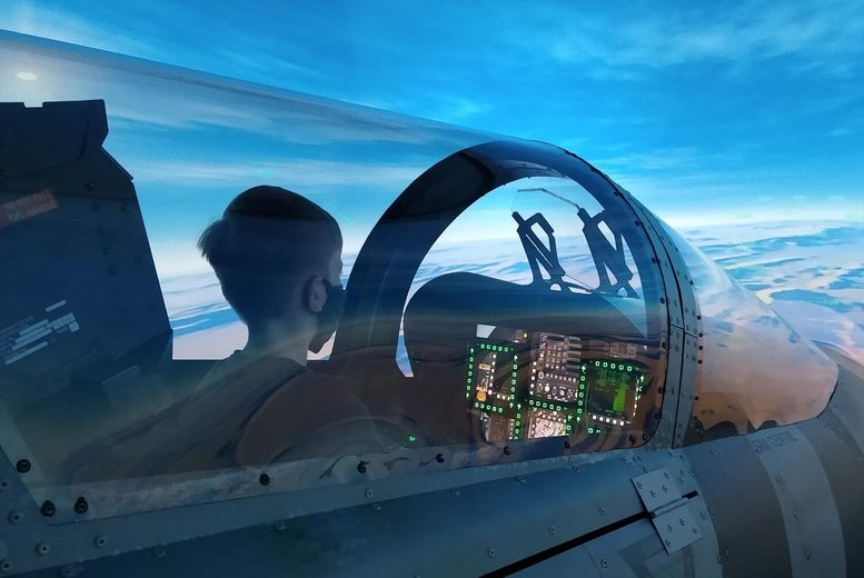 Image of £29 instead of £59 for a 30-minute Messerschmitt flight simulator experience at Flight Sim Centre, Newcastle upon Tyne. £49 for Top Gun or Spitfire, from £49 to upgrade to one hour - save up to 51%