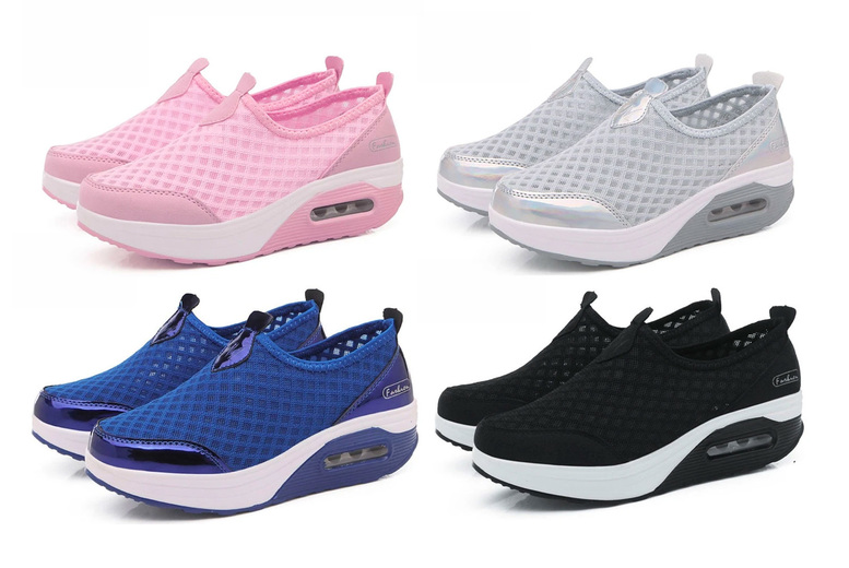 Image of £14.99 instead of £39.99 for women's soft sole mesh shoes from E Life-Style - save 63%