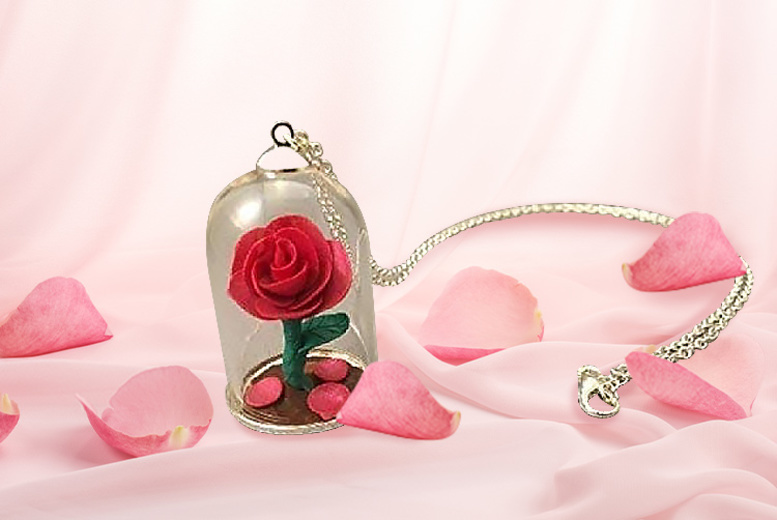 Image of From £2.99 instead of £8 for a fantasy inspired rose dome necklace or £5.50 two necklaces from Forever Cosmetics - save up to 70%