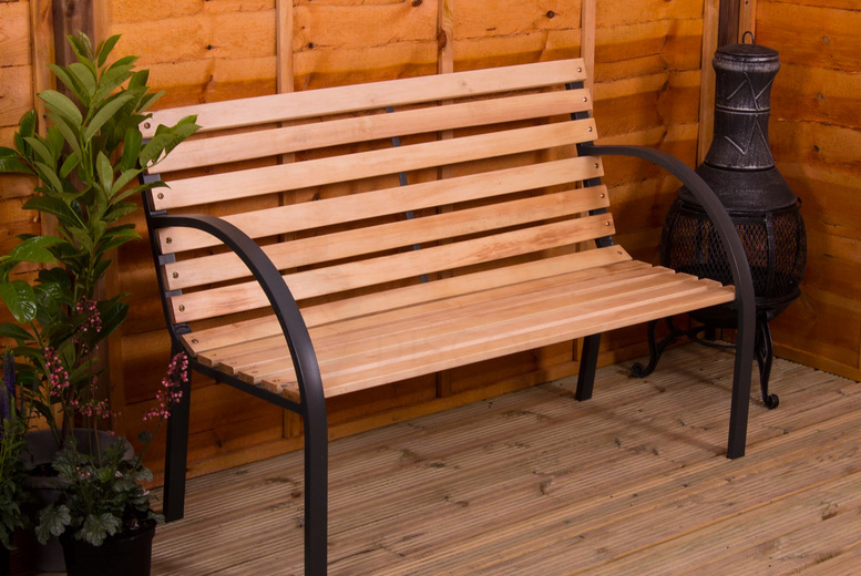 Image of From £34 instead of £77 for a Vida wooden garden bench, choose from five styles from Home Discount and save up to 56%
