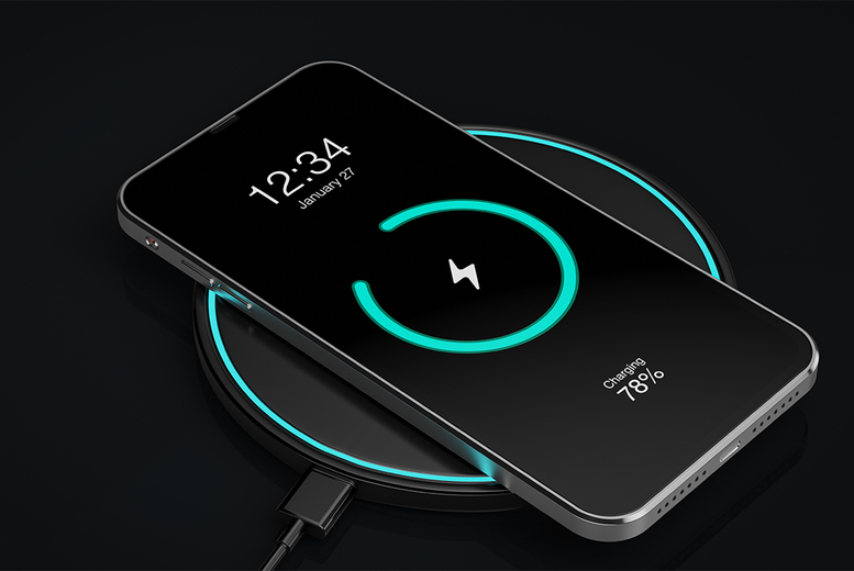 Image of £4.99 instead of £44.99 for a wireless phone charger from Kensington Hill – save 89%
