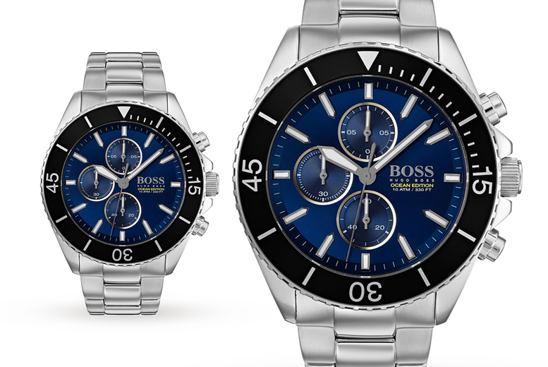 Image of £149 instead of £499.99 for a Hugo Boss HB1513704 Ocean Edition men's watch from Demand Tic - save 70%