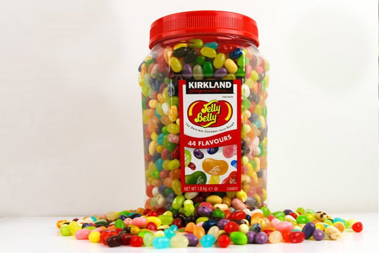 Image of £24.99 for a 1.8kg Gourmet Jelly Belly jelly beans sweets selection from Euro Coffee Pods