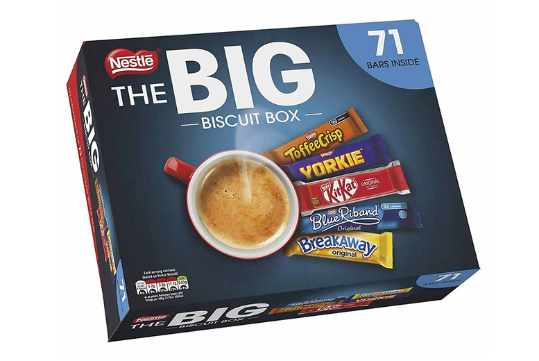 Image of £14.98 instead of £19.74 for a selection of 71 Nestlé chocolate biscuit bars - save 24%
