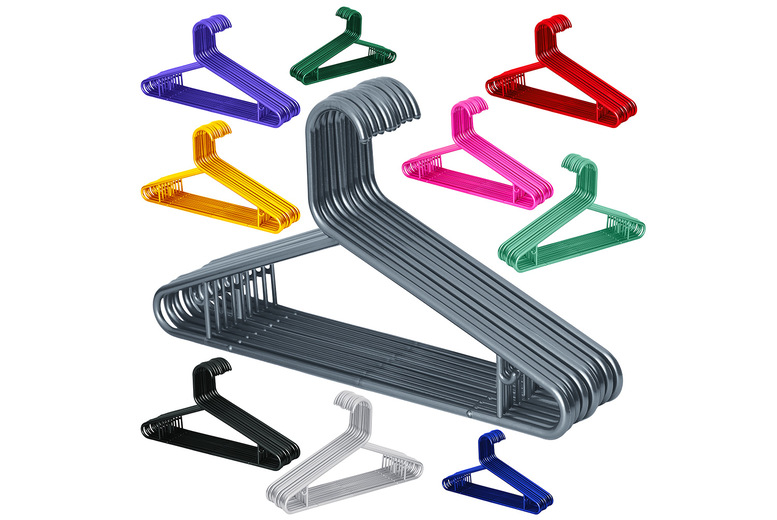Image of From £7.99 for 25 strong and thick plastic hangers, choose from three pack options and 12 colours from Bliss Home Living!