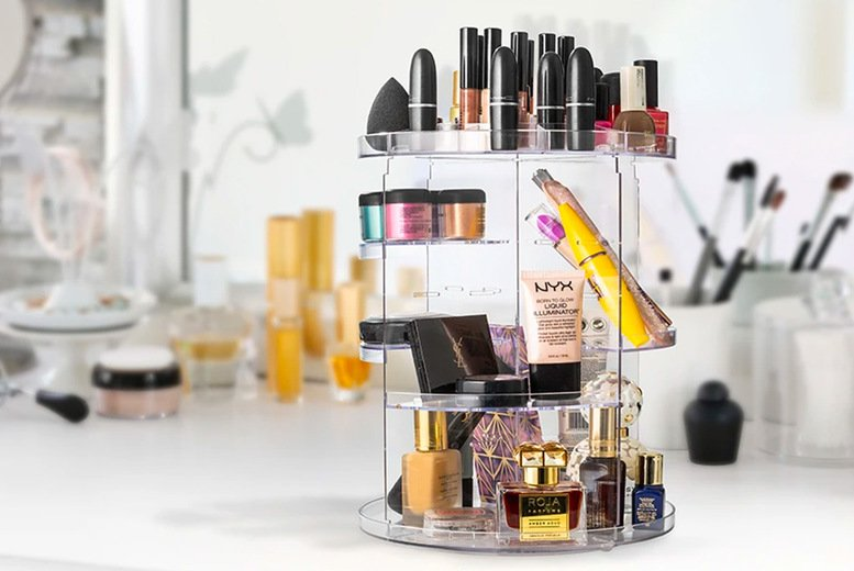 Image of £12.99 instead of £49.99 for an acrylic make up storage tower from Chimp Online – save 74%