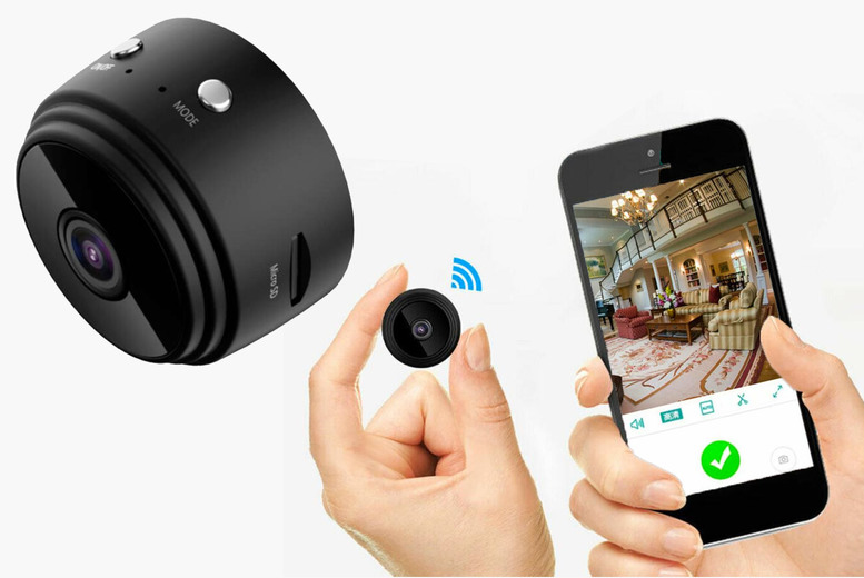 Image of £12 instead of £139.99 for a mini wifi security spy camera, £19.99 for a camera and 32GB SD card from TopGoodChain - save up to 91%