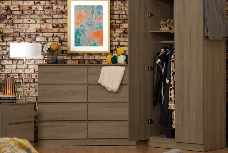 Image of From £39 instead of £89.99 for a two-drawer bedside cabinet from iQGB UK - save up to 57%