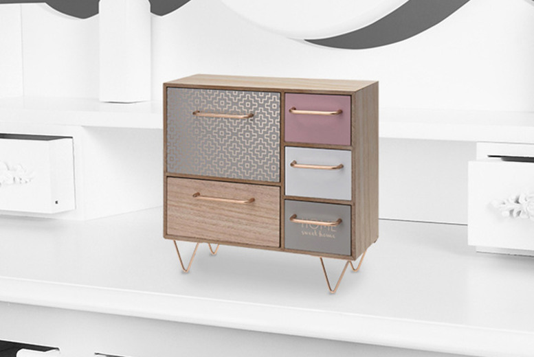 Image of £13.98 instead of £29.99 for a mini wooden dresser from Eurotrade - save 53%
