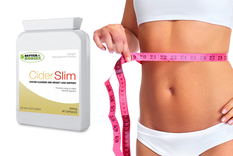Image of £6.99 instead of £9.95 for a one month supply* of apple cider vinegar weight loss capsules, £12.99 for a two month supply*, or £18.99 for a three month supply* - Better Bodies