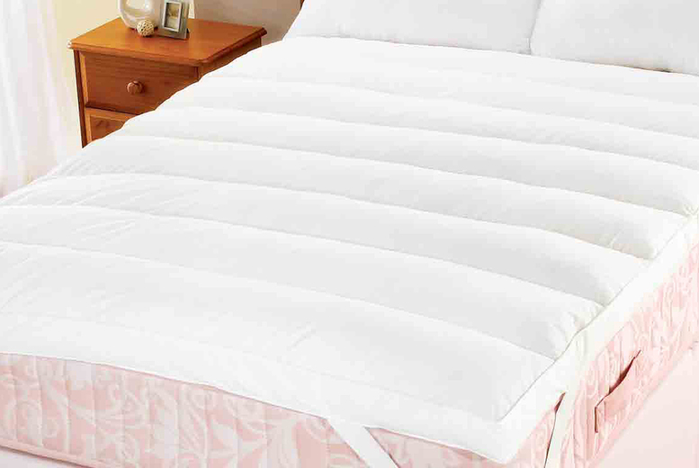Image of £45 instead of £60 for a single duck feather lumbar support mattress topper, £55 for a small double, £65 for a double, £70 for a king or £80 for a super-king from Chums! - save 25%