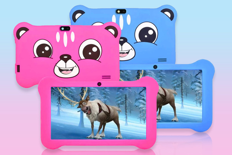 "Image of From £38.99 for a kids' 7"" Android tablet with silicone case in pink or blue from Domo Secret!"