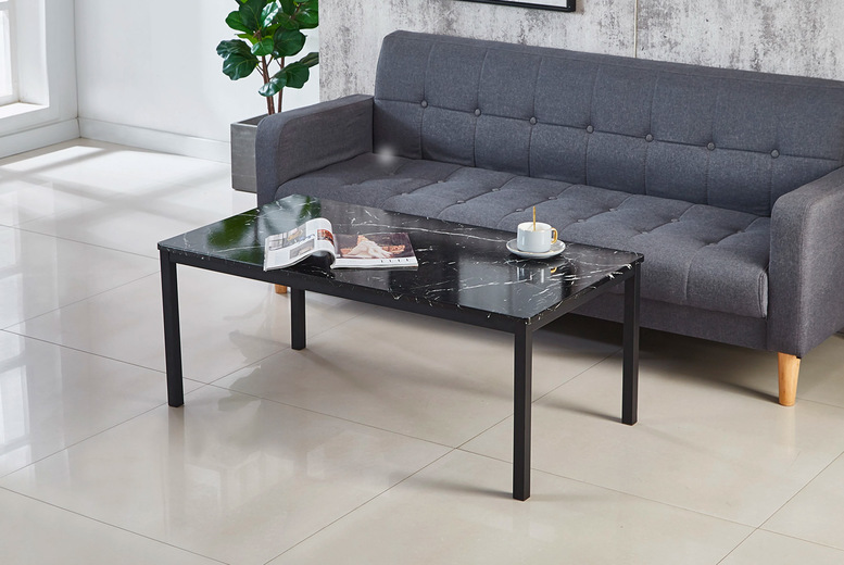 Image of £59 instead of £169 for a marble-effect coffee table, £95 for a nest of three tables, £119 for a coffee table with two side tables - Modernique Furniture - save up to 65%
