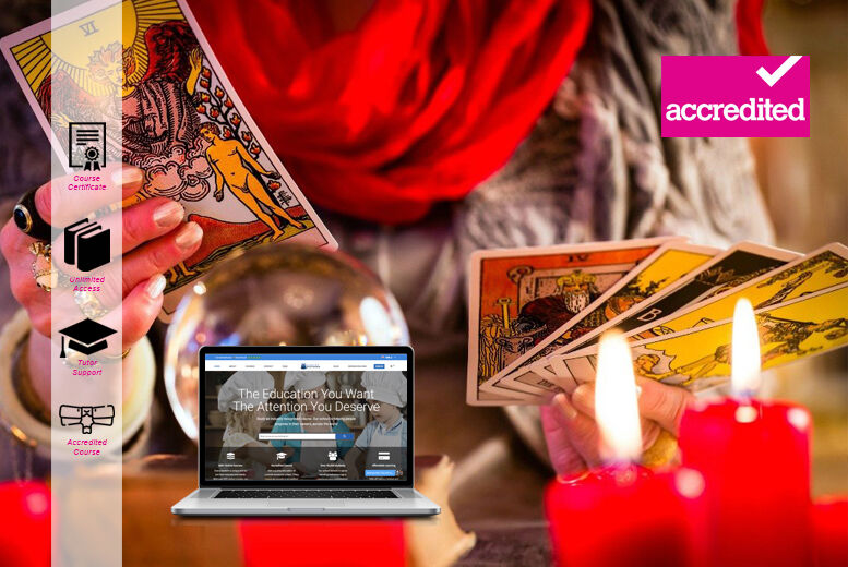 Image of £16 instead of £299 for an Online Accredited Tarot Reading Course from Harley Oxford - save 95%