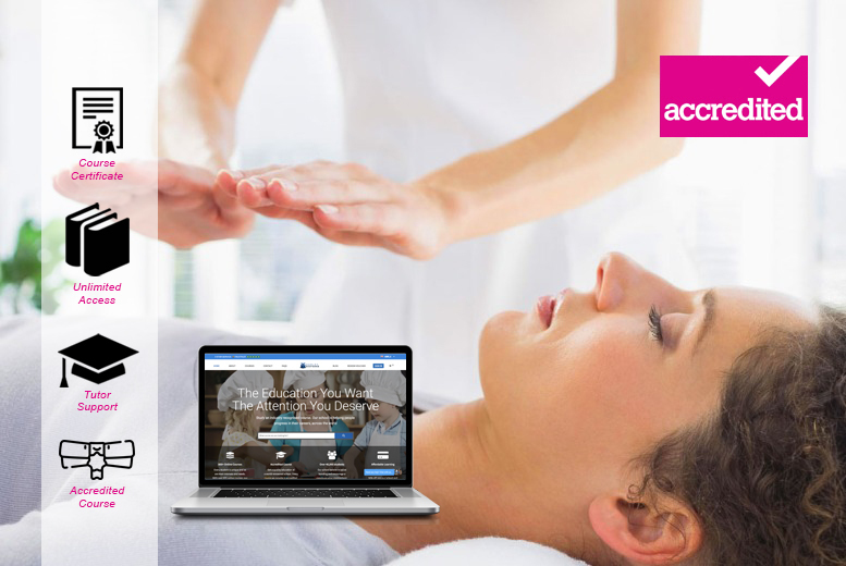 Image of £19 instead of £199 for an online accredited reiki course - levels 1 & 2 from Harley Oxford - save 90%