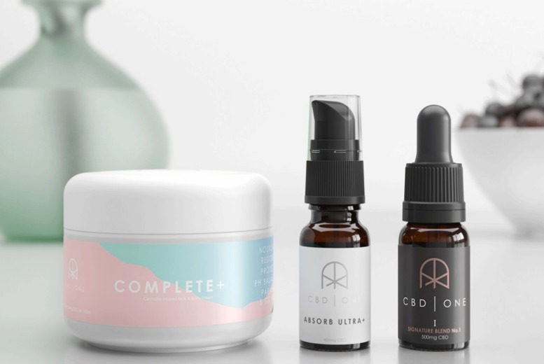 Image of £10 for a £20 spend at CBD One - enjoy free delivery on orders over £40 and shop a range CBD products!