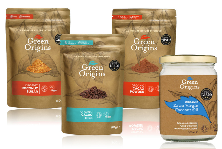 Image of £14.99 instead of £20.71 for one superfood baking bundle or £29.99 for two bundles from Green Origins – save up to 28%