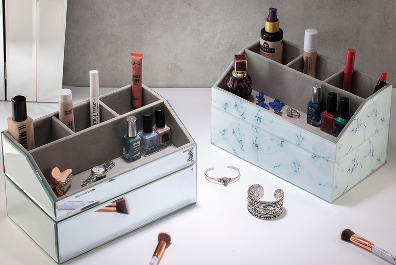 Image of From £4.99 instead of £29.99 (from CJ Offers) for a cosmetics organiser - choose from two designs and save up to 83%