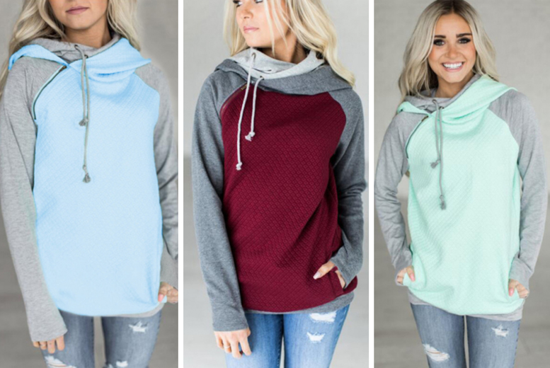 Image of £11 for a women's thick winter hoodie in White, Pink, Blue, Green or Wine Red in UK sizes 10-20 from Pinkpree!