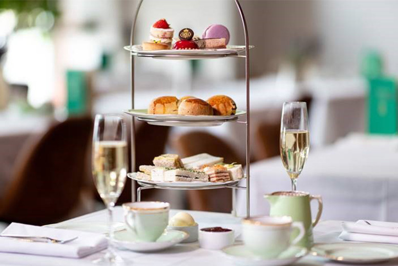 Image of £19 instead of £27.95 for an afternoon tea for two at Café De Pierre, Oxford Street, £24 to include a glass of Prosecco each - save up to 32%